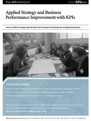 Applied Strategy and Business Performance Improvement with KPIs