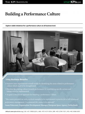 Building a performance culture