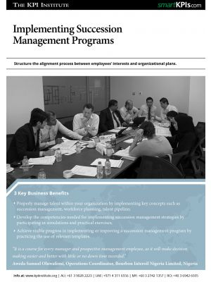 Implementing Succession Management Programs