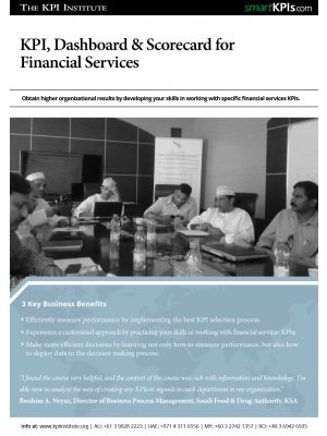 KPI, Dashboard & Scorecard for Financial Services
