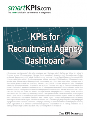 KPIs for Recruitment Agency Dashboard