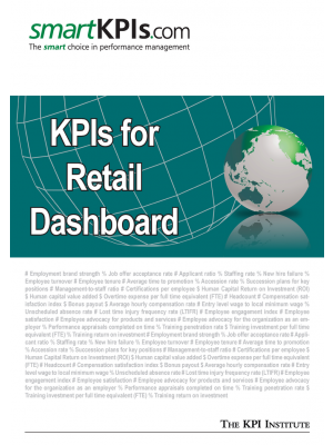 KPIs for Retail Dashboard