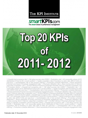 Top 20 KPIs of 2011-2012