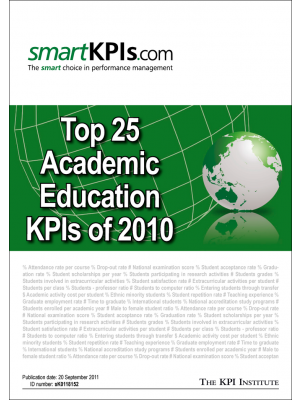 Top 25 Academic Education KPIs of 2010