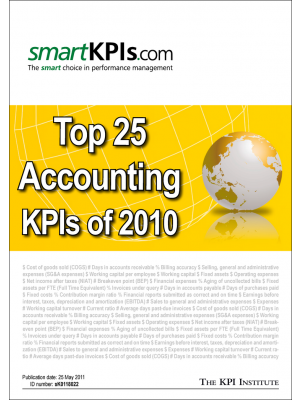 Top 25 Accounting KPIs of 2010