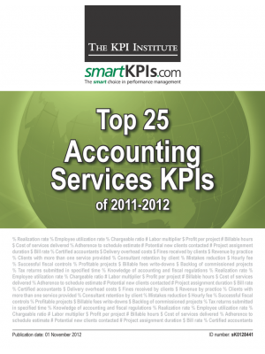Top 25 Accounting Services KPIs of 2011-2012