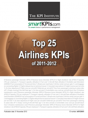 Top 25 Airlines KPIs of 2011-2012