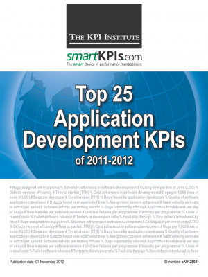 Top 25 Application Development KPIs of 2011-2012