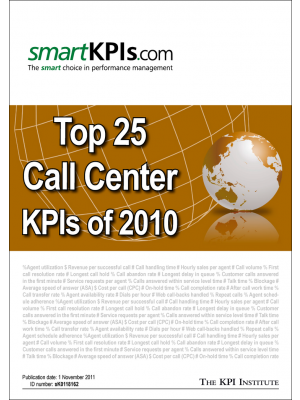 Top 25 Call Center KPIs of 2010