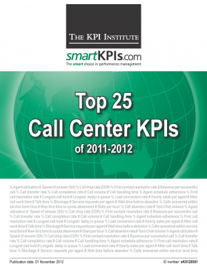 Top 25 Call Center KPIs of 2011-2012