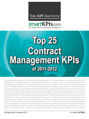 Top 25 Contract Management KPIs of 2011-2012