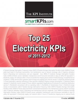 Top 25 Electricity KPIs of 2011-2012