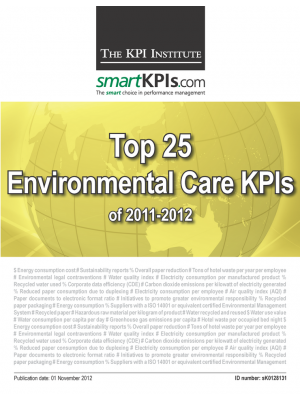 Top 25 Environmental Care KPIs of 2011-2012