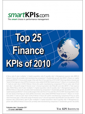 Top 25 Finance KPIs of 2010