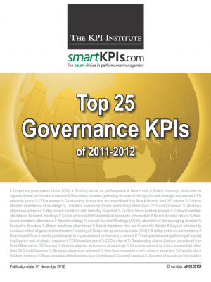 Top 25 Governance KPIs of 2011-2012