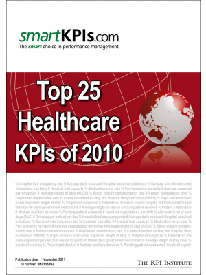 Top 25 Healthcare KPIs of 2010