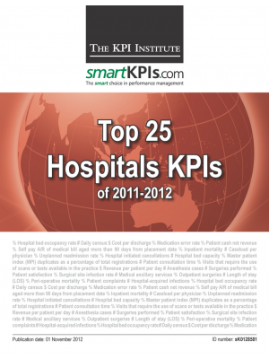 Top 25 Hospitals KPIs of 2011-2012