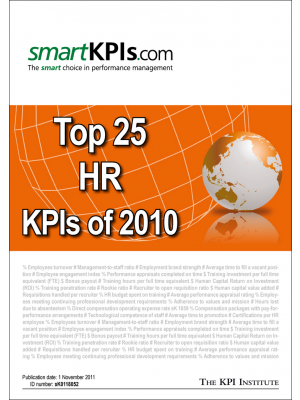 Top 25 HR KPIs of 2010