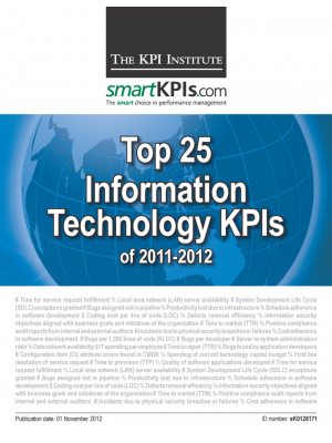 Top 25 Information Technology KPIs of 2011-2012