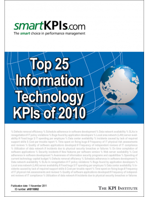 Top 25 Information Technology KPIs of 2010