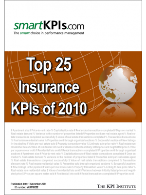 Top 25 Insurance KPIs of 2010