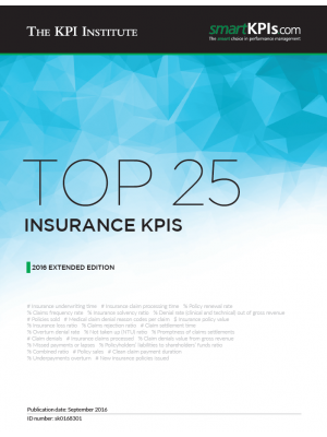 Top 25 Insurance KPIs – 2016 Extended Edition