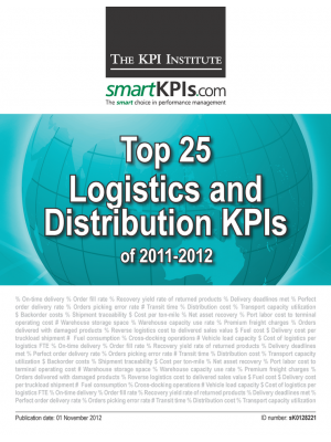 Top 25 Logistics and Distribution KPIs of 2011-2012