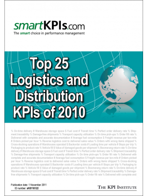 Top 25 Logistics and Distribution KPIs of 2010
