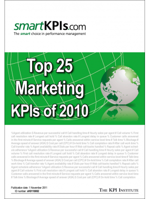 Top 25 Marketing KPIs of 2010