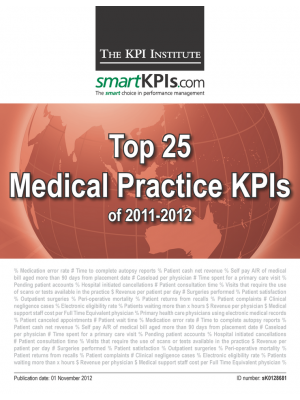 Top 25 Medical Practice KPIs of 2011-2012
