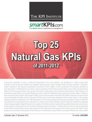 Top 25 Natural Gas KPIs of 2011-2012