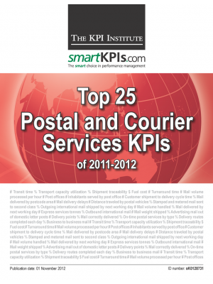 Top 25 Postal and Courier Services KPIs of 2011-2012