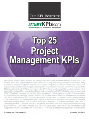 Top 25 Project Management KPIs of 2011-2012