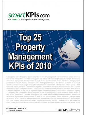 Top 25 Property Management  KPIs of 2010