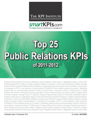 Top 25 Public Relations KPIs of 2011-2012