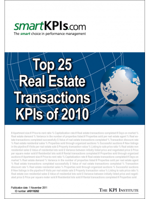 Top 25 Real Estate Transactions KPIs of 2010