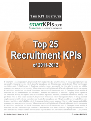 Top 25 Recruitment KPIs of 2011-2012