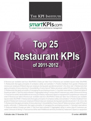 Top 25 Restaurant KPIs of 2011-2012
