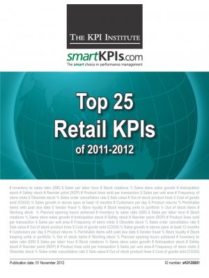 Top 25 Retail KPIs of 2011-2012