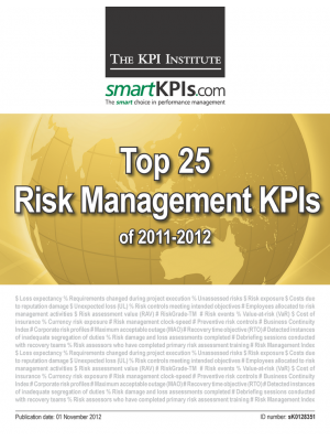 Top 25 Risk Management KPIs of 2011-2012