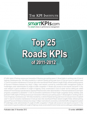 Top 25 Roads KPIs of 2011-2012