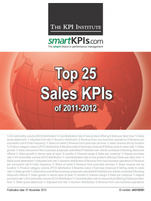 Top 25 Sales KPIs of 2011-2012