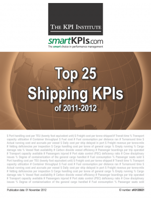 Top 25 Shipping KPIs of 2011-2012
