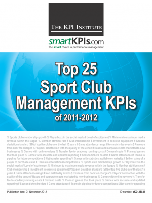 Top 25 Sport Club Management KPIs of 2011-2012