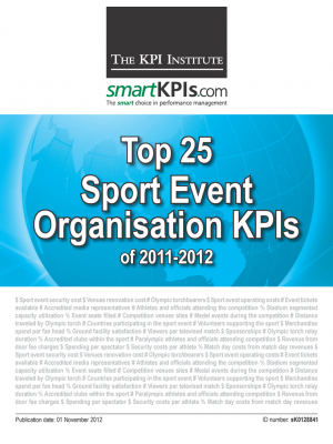 Top 25 Sport Event Organisation KPIs of 2011-2012