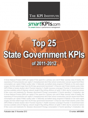 Top 25 State Government KPIs of 2011-2012
