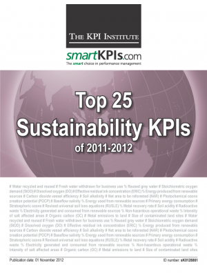 Top 25 Sustainability KPIs of 2011-2012