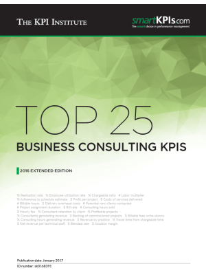 Top 25 Business Consulting KPIs - 2016 Extended Edition
