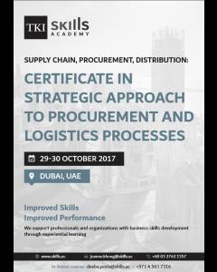Certificate in Strategic Approach to Procurement and Logistics Processes