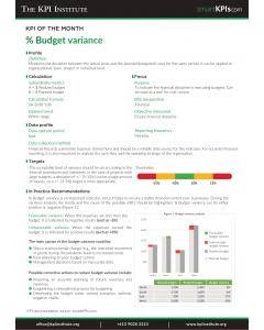 KPI of August: % Budget variance
